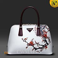 Womens Leather Printed Handbag CW250200 - cwmalls.com