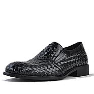 Cwmalls Mens Handmade Slip-on Dress Shoes CW764105