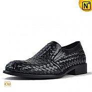 Chicago Mens Woven Leather Shoes CW764105