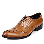 Cwmalls Mens Lace-Up Leather Brogue Shoes CW764076