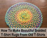 Braided t-shirt rug