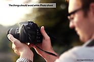 The things should avoid while Photo shoot - Image Solutions India