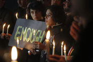 Pakistani Civil Society Members take part in a Candle Light Vigil for the Victims
