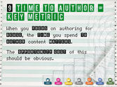 Time To Author = key METRIC