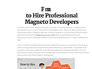 How to Hire Professional Magneto Developers