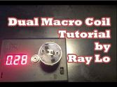 (Easy Rebuild) 0.28Ω Dual Macro Coil Rebuild Tutorial on the IGO-M