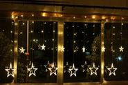 Christmas Lights Sale - GBB LED Curtain Light 110V 12 Star-Shaped at the end, Ideal for Christmas, Party or other Cel...