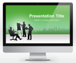 Free Business PowerPoint Template Green (16:9) | SlideHunter.comSlideHunter.com