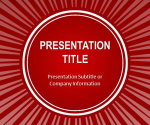 Free Red Sun Burst PowerPoint Template - Free PowerPoint Templates - SlideHunter.com
