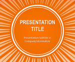 Free Orange Sunburst PowerPoint Template - Free PowerPoint Templates - SlideHunter.com