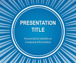 Free Blue Sunburst PowerPoint Template - Free PowerPoint Templates - SlideHunter.com