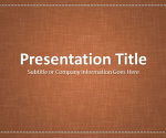 Free Linen Brown PowerPoint Template - Free PowerPoint Templates - SlideHunter.com