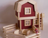 Wooden Barn Toy - Toy Farm Sets for Little Kids