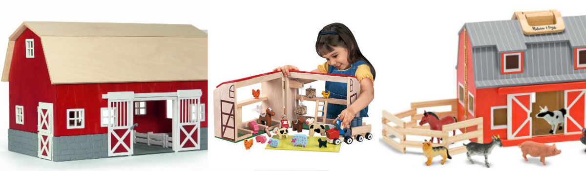 Headline for The Best Wooden Toy Barn - Toy Farm Sets for Toddlers and Little Kids