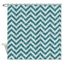 Fun Glitter Chevron Shower Curtain Designs