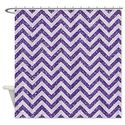 Awesome Glitter Chevron Shower Curtain Designs