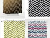 Glitter Chevron Shower Curtain
