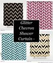 Glitter Chevron Shower Curtain - Pretty and Fun