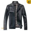 Mens Slim Fit Motorcycle Leather Jackets CW812206 - cwmalls.com