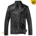 Mens Black Slim Fit Leather Jackets CW812231 - cwmalls.com