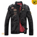 Men's Designer Black Leather Motorcycle Jackets CW813028