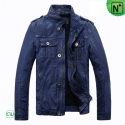 Blue Motorcycle Leather Jackets CW813087 - m.cwmalls.com
