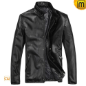 Black Motorcycle Leather Jacket CW812208 - jackets.cwmalls.com