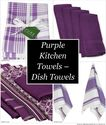 Purple Kitchen Towels - Dish Towels & Tea Towels