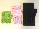 Simple Fingerless Gloves for the Whole Family