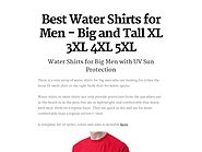 Best Water Shirts for Men - Big and Tall XL 3XL 4XL 5XL