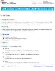 CMS Website Development for Children Summer Camp