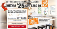 Win $25 FREE The Home Depot Gift Card for Home Appliances