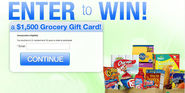 Instantly Win Grocery Gift Card of $1,500 Valued
