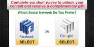 Facebook Vs Google | Vote for Your Fav Site to Get Free Gifts