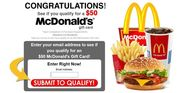 Instantly Win Your $50 FREE McDonalds Gift Card 2015