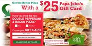 Win a $25 FREE Papa Johns Gift Card for a 5 mins Survey