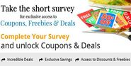 Unlock up to 50% Discounts and Freebies by a Single Survey