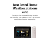 Best Rated Home Weather Stations 2015