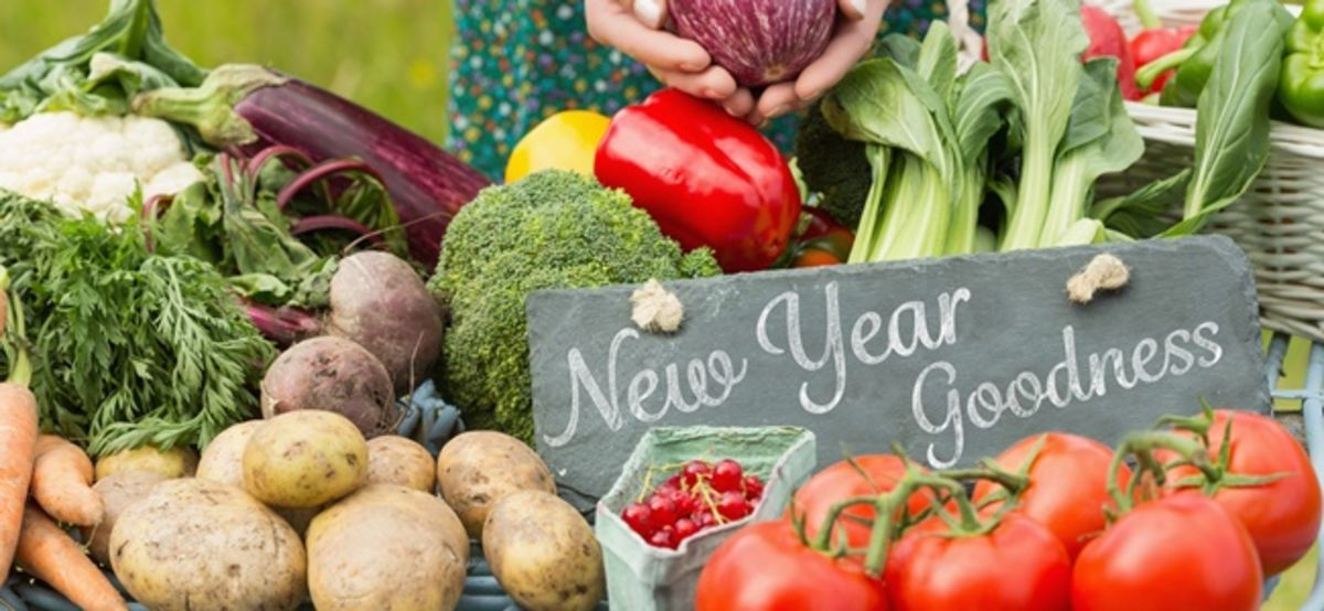 Headline for New Year's Gardening Resolutions (Fun, Quirky and Hopeful)