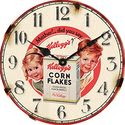 Wall Clock by Kelloggs - Vintage - Retro - Cornflakes Boy and Girl Image Antique Style - In Stock and comes with AMAZ...