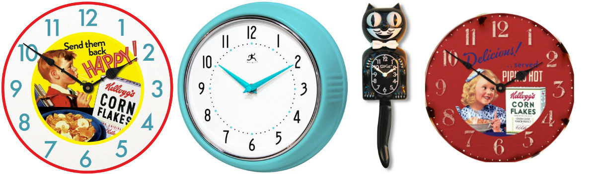 Headline for Retro Kitchen Wall Clocks - Vintage Wall Clocks