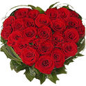 Heart Shape Flowers Arrangements for Valentines Day