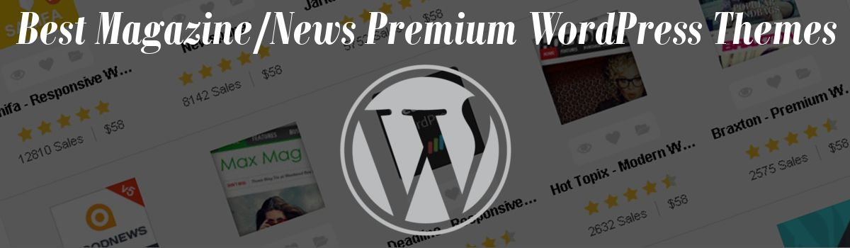 Headline for Best Magazine/News Premium WordPress Themes