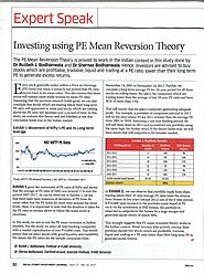 Stock Market Valuations: A Comparative Study of PE Ratios - FLAME University