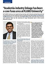 Academia-industry linkage has been a core focus area at FLAME University - Liberal Education in India