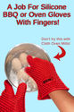 Silicone Oven Gloves With Fingers - Safe, Hygenic and Effective in The Kitchen