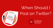 Ask Mandy Q&A - When Should I Post on Twitter? - ME Marketing Services, LLC