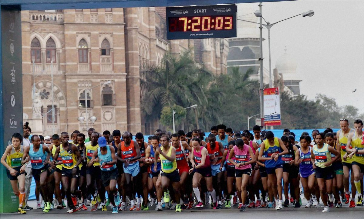 Headline for Top Celebrities at the Mumbai Marathon 2015