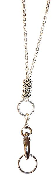"Chain Black Bling Fashion Lanyard 34"" NON Breakaway -"