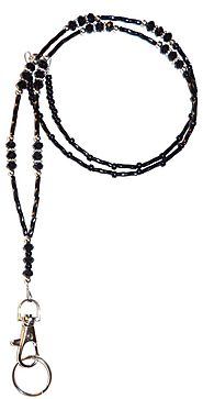 black-crystal-ultra-slim-light-fashion-lanyard-break-away-magnetic-clasp